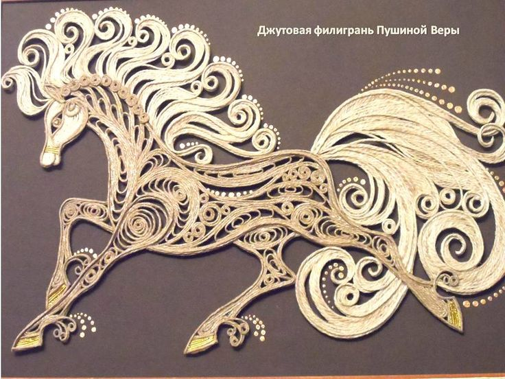OK.RU, made out of jute with a technique similar to quilling…