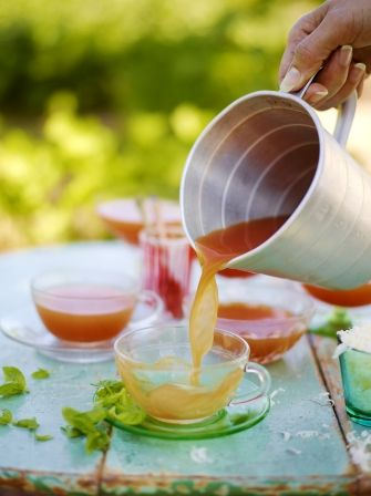 Savour the taste of summer with this fresh tomato broth recipe from Jamie Oliver; a beautiful, healthy dish that is perfect for the whole family.