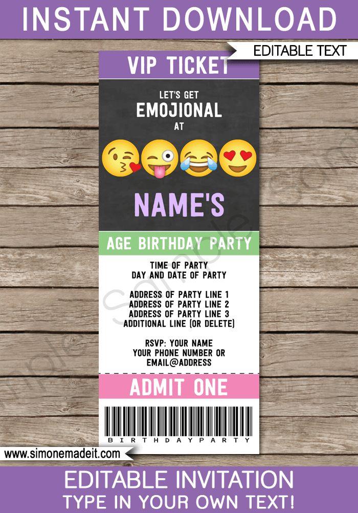 A 17 legjobb ötlet a következőről Party Tickets a Pinteresten - party tickets templates