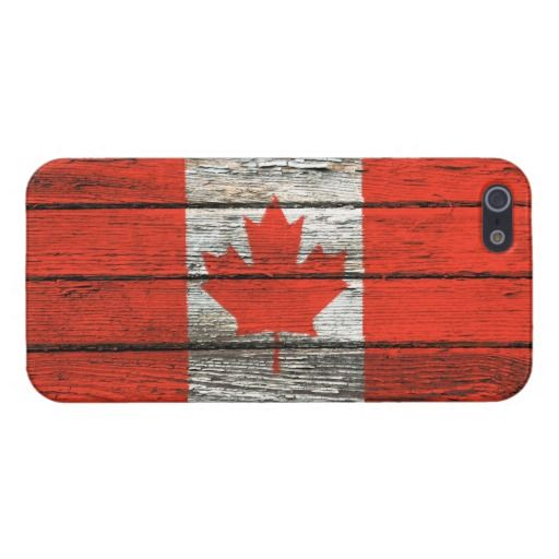 This beautiful design features the flag of Canada painted on old wooden boards. The planks of wood have a weathered look with peeling paint visible throughout. This unique Canadian flag pattern is a unique way to show off your patriotism