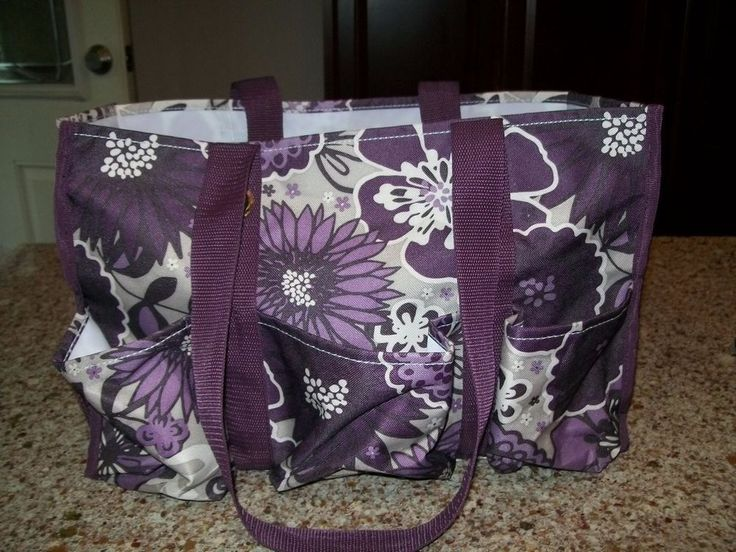 THIRTY ONE ORGANIZING UTILITY TOTE PURPLE AWESOME BLOSSOM GREAT USED CONDITION  #ThirtyOne #TotesShoppers