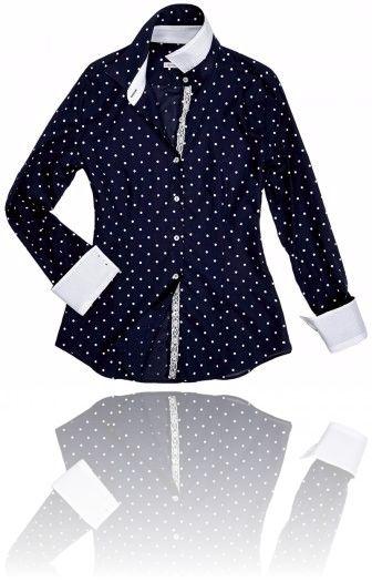 Camicia elegante blu notte e pois bianchi. Seguici su #RedisRappresentanze www.redisrappresentanze.it