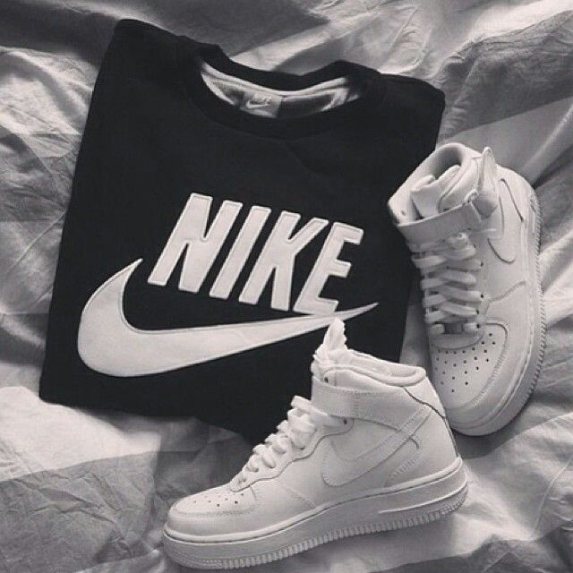 nike and nike air force one image on We Heart It