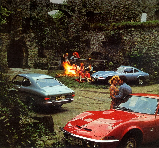 1970 calender - Opel GT and Opel Kadett Coupé Rally