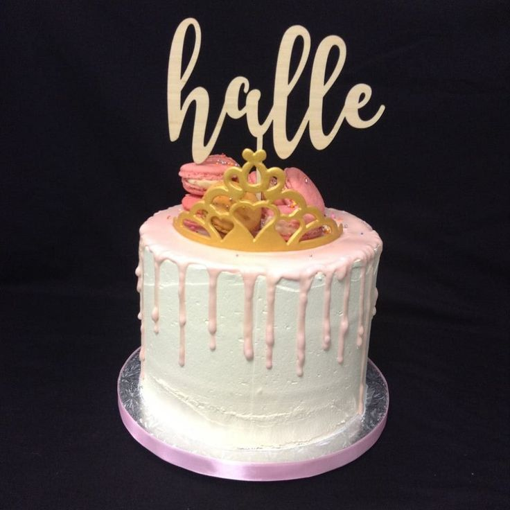 Princess Themed Overload & Drip Cake decorated by Coast Cakes Ltd