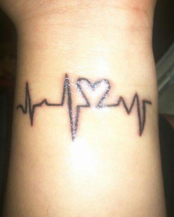 Heart Beat Line Tattoo