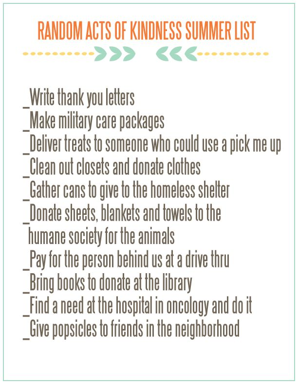 Random acts of kindness list 1000 ideas about acts of kindness on