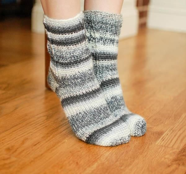 Ladies Crochet Socks
