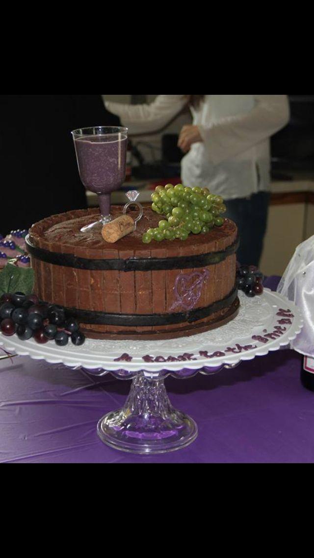 Wine Barrel Cake Wine Theme Cakes Rustic Birthday Cake