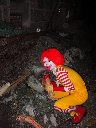 i will never think of ronald mcdonald as a happy clown. EVER again!