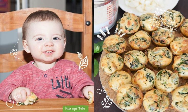 These delicious savoury muffins are jam packed full of good ingredients from Spinach and garlic to goat cheese-Homemade baby food recipes.
