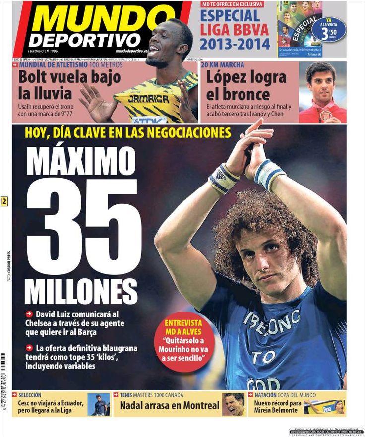 Prensa deportiva del 12 de Agosto 2013