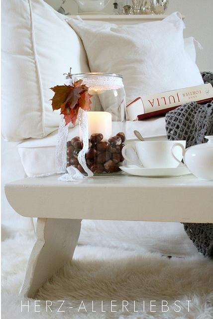 Herbst-Kerze #Tischdeko #Herbst