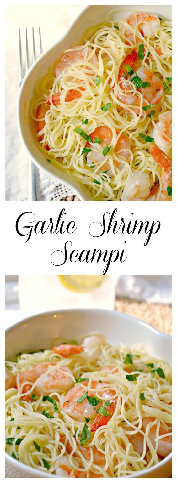 Garlic Shrimp Scampi recipe - simple to make, and takes little time as well - great for the days when the schedule is bursting with activities.