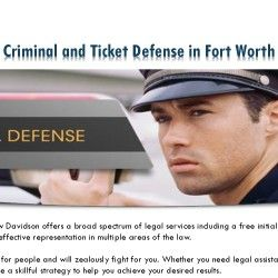 Davidson Law incorporates a passion for people and can zealously fight in your case. Whether you need to have legal assistance in a very criminal matt