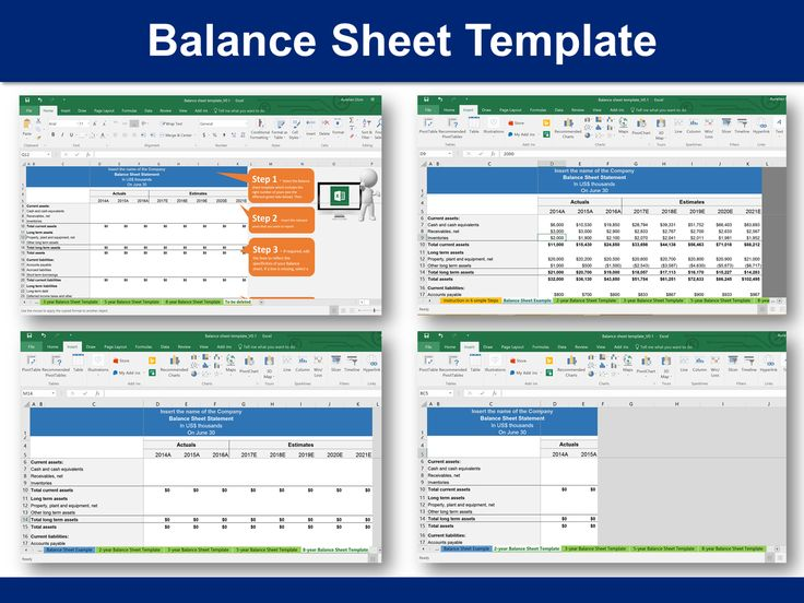 Best Simple Balance Sheet Template  By ExDeloitte Consultants