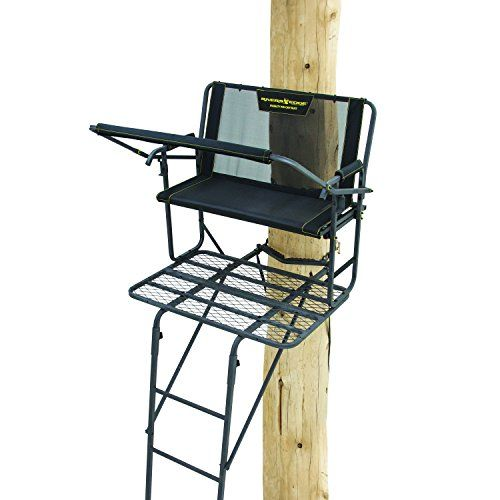 Rivers Edge RE642 SYCT 2-Man Ladder Stand   https://huntinggearsuperstore.com/product/rivers-edge-re642-syct-2-man-ladder-stand/