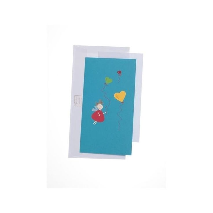 Large Blank Greeting Card with Chubby AngelLarge Blank Greeting Card with Chubby Angel
