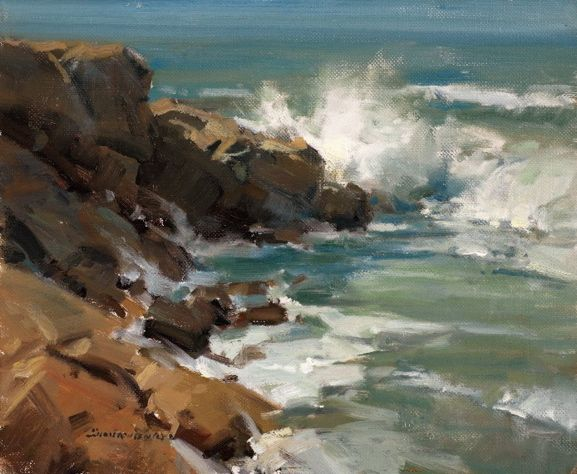 Pacific Waters. 12 x 10 in, oil. Scott Christensen