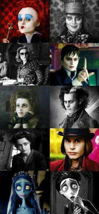 Las mil y un caras de Helena Bonham Carter y Johnny Depp bajo la dirección de Tim Burton