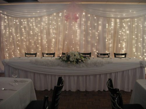 white wedding light curtains
