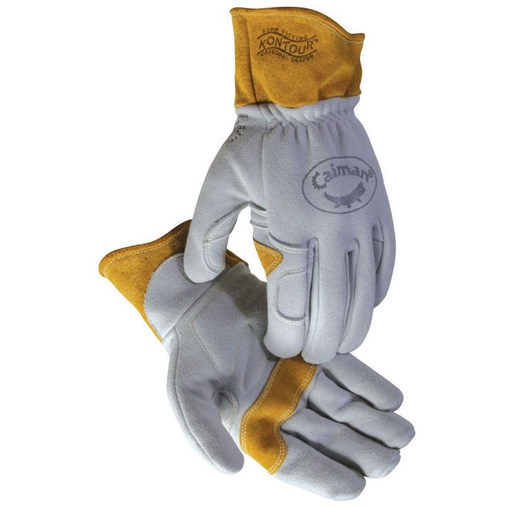 Heavy Deerskin Welding Gloves, Kontour™ Design - 1870 - Caiman