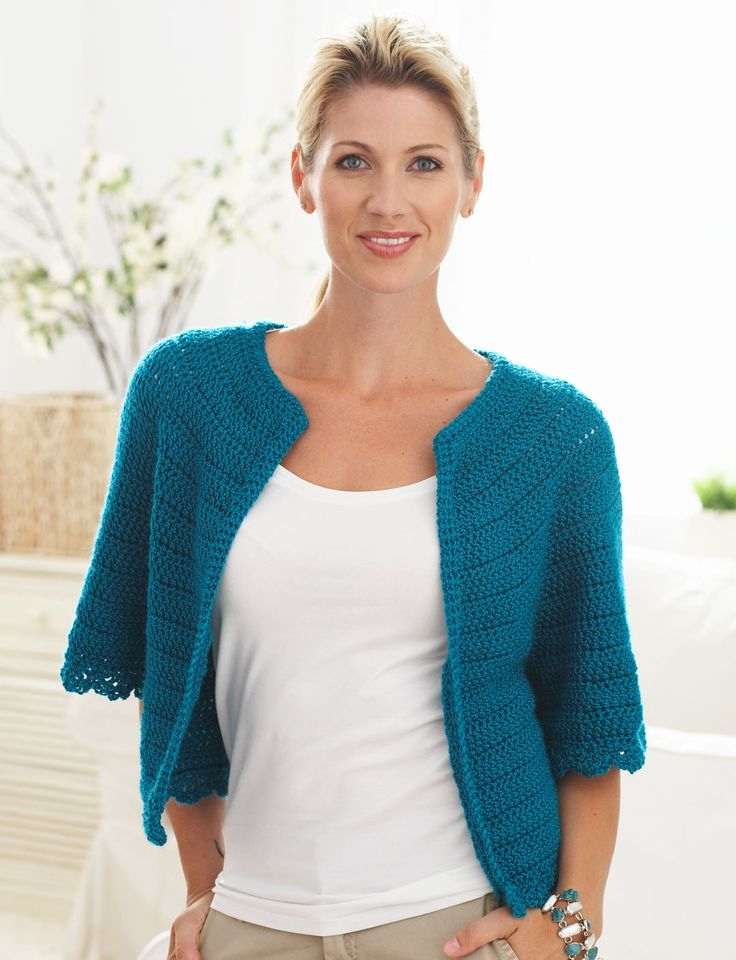 Cape Sleeved Cardi - Patterns Yarnspirations Handiwork - Crochet Pinter...