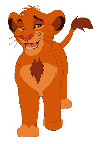 Simba as a teenager