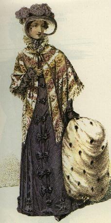 Promenade Dress, 1821, from Ackermann's Repository