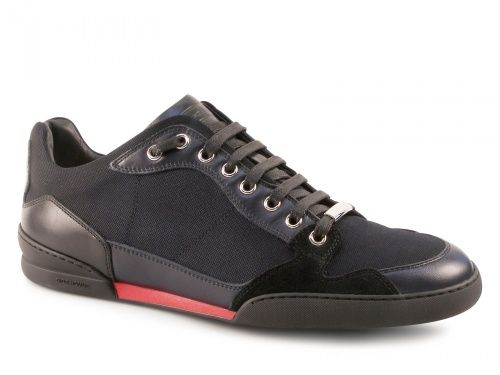 Sneakers Dior uomo in pelle e tessuto Blu scuro