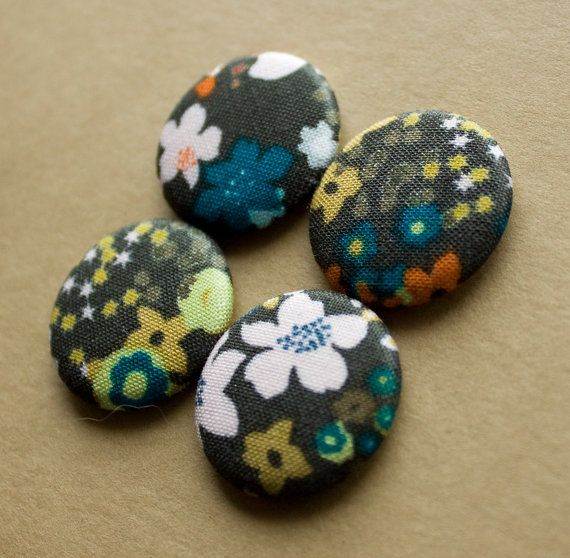 Vintage Floral Print Magnets  set of 4 by HowlOwl on Etsy.