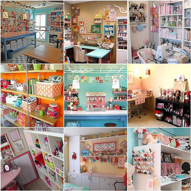 Amazing craft rooms  One day I will have a house I can have a craft room like this!!