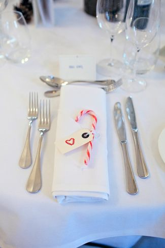 Candy Cane Wedding Favours | Contemporary Winter Wedding