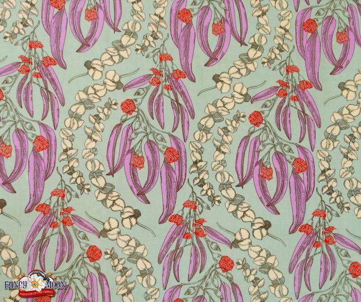 Pretty Potent Eucalyptus Ruby Dress Fabric, Anna Maria Horner
