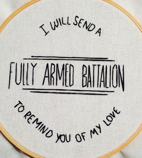 Another addition to the Hamilton series of cross stitching Ive done recently. This lyric is from Youll Be Back in the musical, Hamilton and it