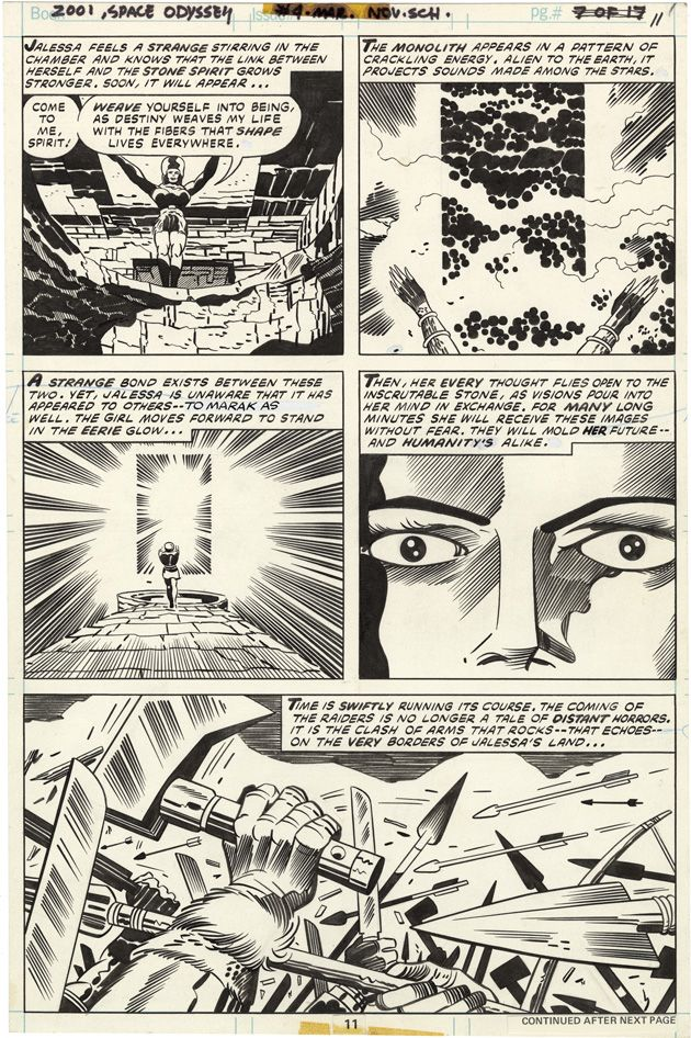2001: A Space Odyssey, Issue 4, Page 11 - Pencils by Jack Kirby, Inks by Mike Royer