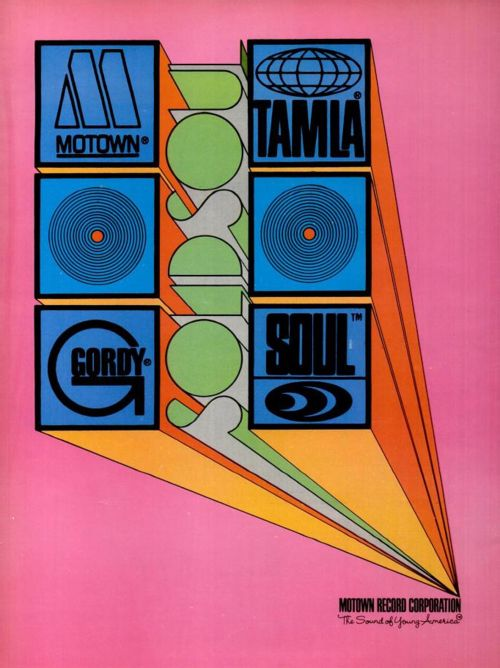 Motown Music Corp. Record Label  Advertisement 60's Graphic Art / Soul Music ) Motown has five major labels – Tamla, Motown, Gordy, Soul and V.I.P.