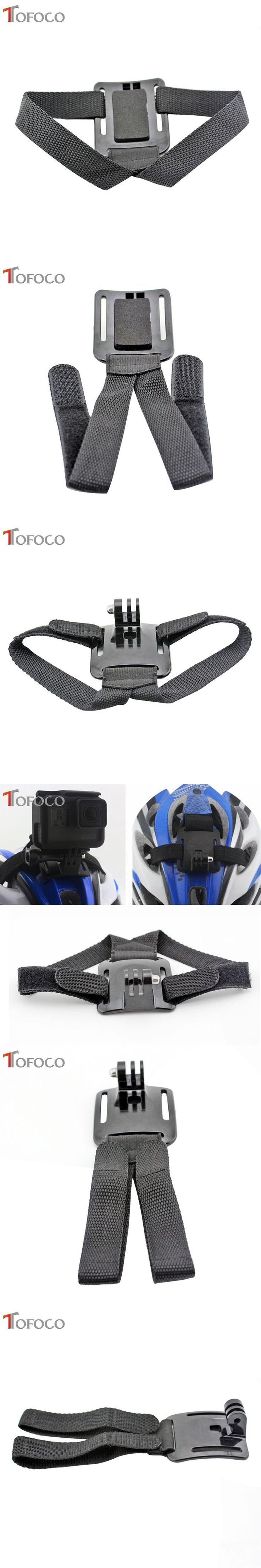 TOFOCO For Gopro Helmet Head Strap Belt Mount Camera Fixed Headband Size Adjustable Anti-Skid For Gopro Hero HD 2 3 3+ 4