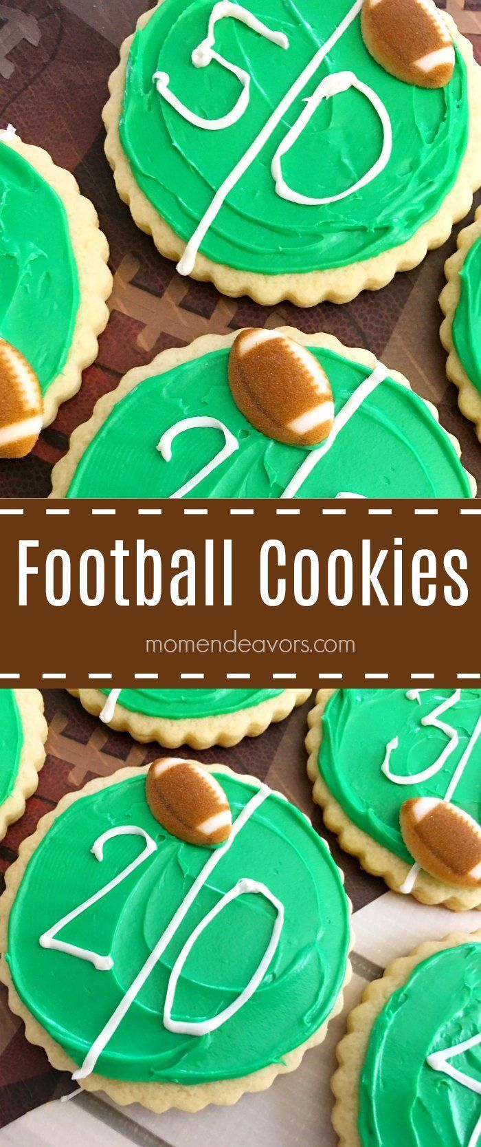 Score a touchdown with these fun football field cookies at your next football party or tailgate!