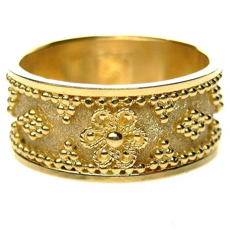 Flower Band Ring. See more at www.athenas-treasures.com