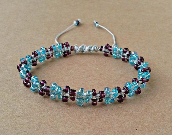 Seed Bead Bracelet Macrame Bracelet Gift For Her Beaded