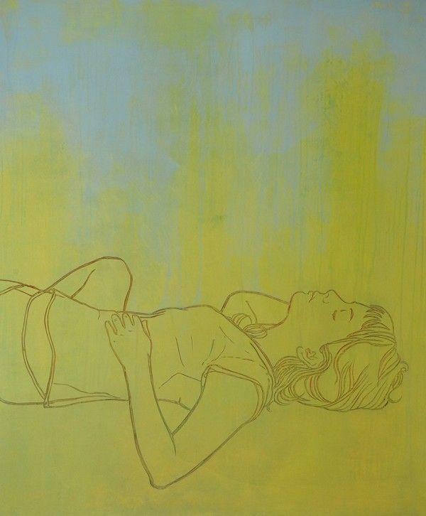 Silke Schmidt: Im Gras liegen 1 - präsentiert von der galerie wagner + marks