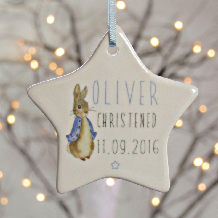 Peter Rabbit Personalised Ceramic Star