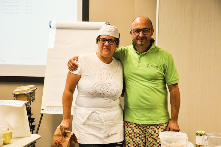 Andrea Pioppi libero impastatore e la Dott.ssa Givanna Manzi, CEO dell'azienda.