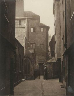 St. Bartholomew-the-Great and Cloth Fair, Smithfield, 1877. The church escaped the Great Fire of London in 1666 but but fell into disrepair ...
