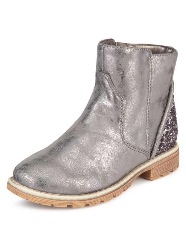 Glitter Back Ankle Boots | M&S