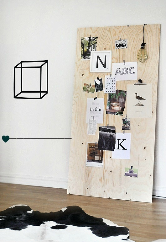 Interior Styling | Wood by The Dsign Chase blog : Large Wooden Board for Inspirations, Photos, Etc. Cooool!