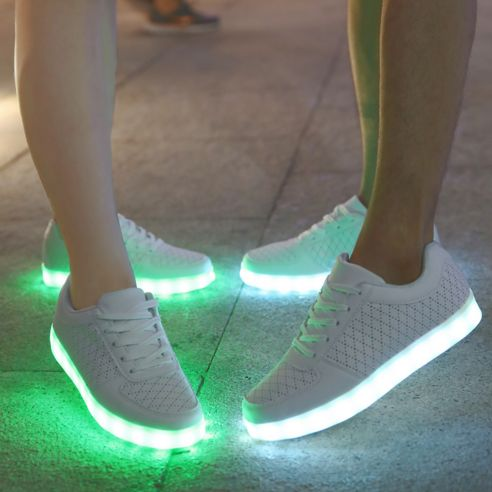 Lage Ademend LED Lichtgevende Schoenen Dames