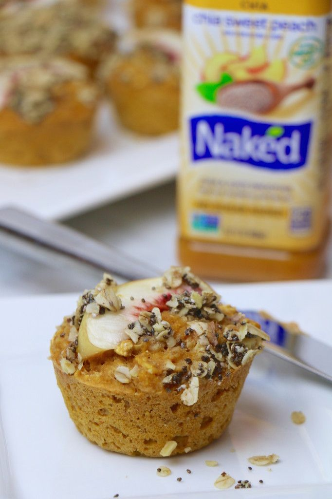 Whole Grain Peach N' Chia Muffins. So easy, healthy, and delicious! # ...