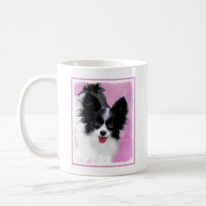 #Papillon (White and Black) Coffee Mug - #drinkware #cool #special